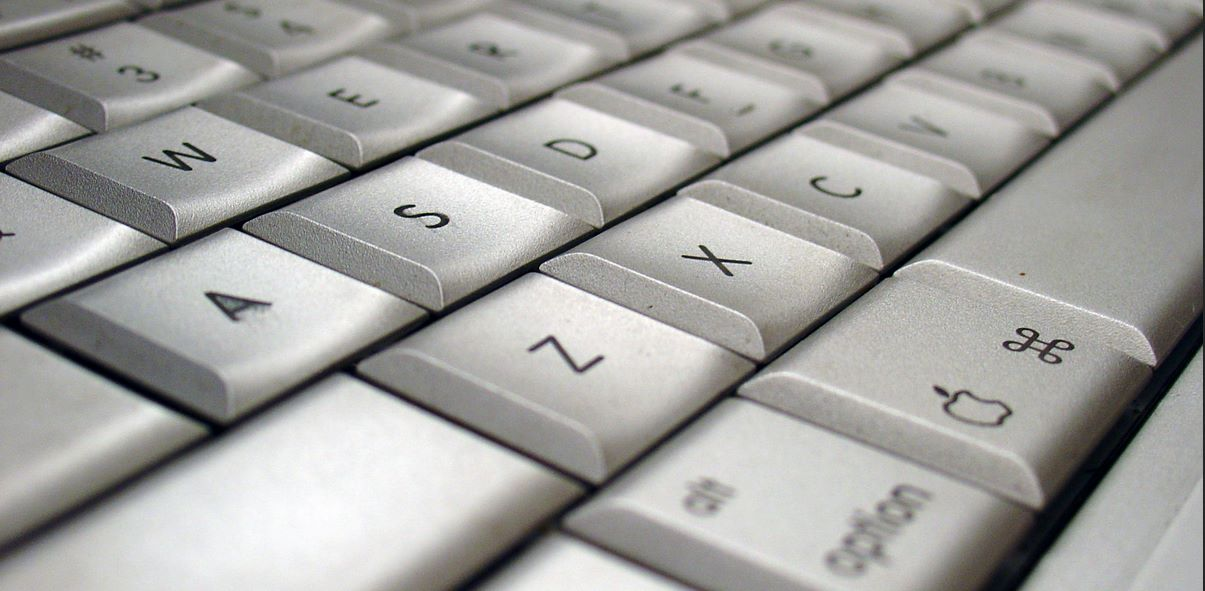 Close up of a mac keyboard
